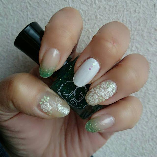 ネイルシール部分は使い回し〜 nail selfnail polish セルフ