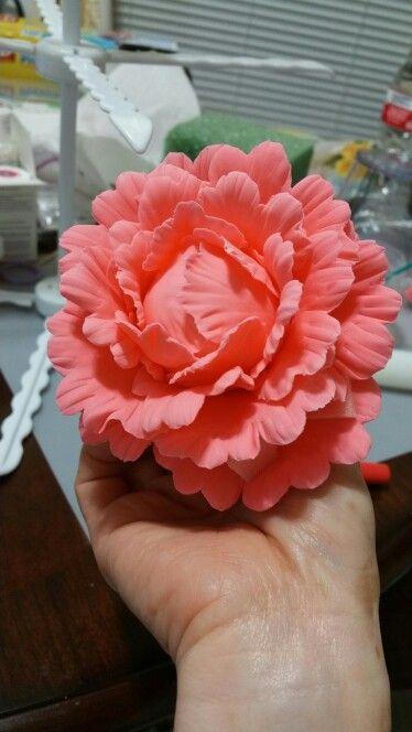 Peony gumpaste flower