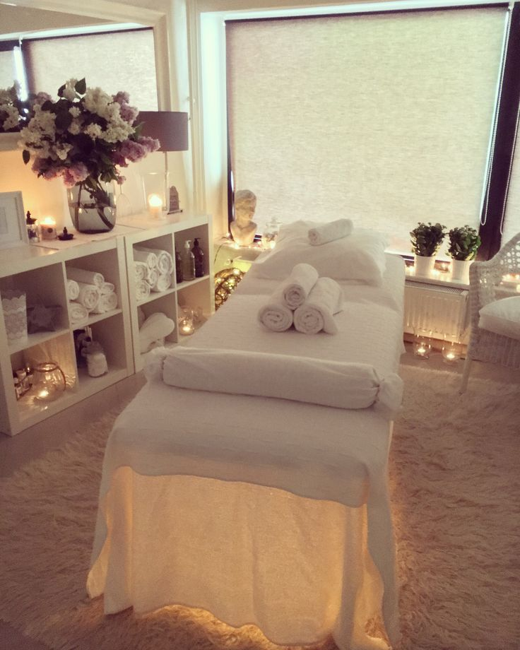 Lighting under the table | Spa room decor, Spa rooms and Spa
