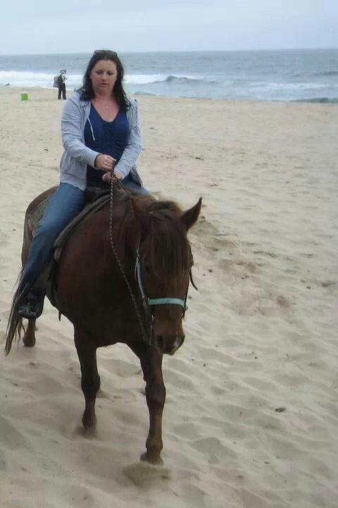 COMPLETE! Horseback riding on the beach