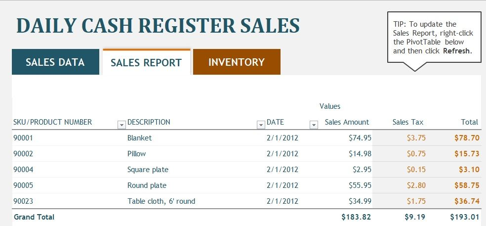 monthly sales report template excel
