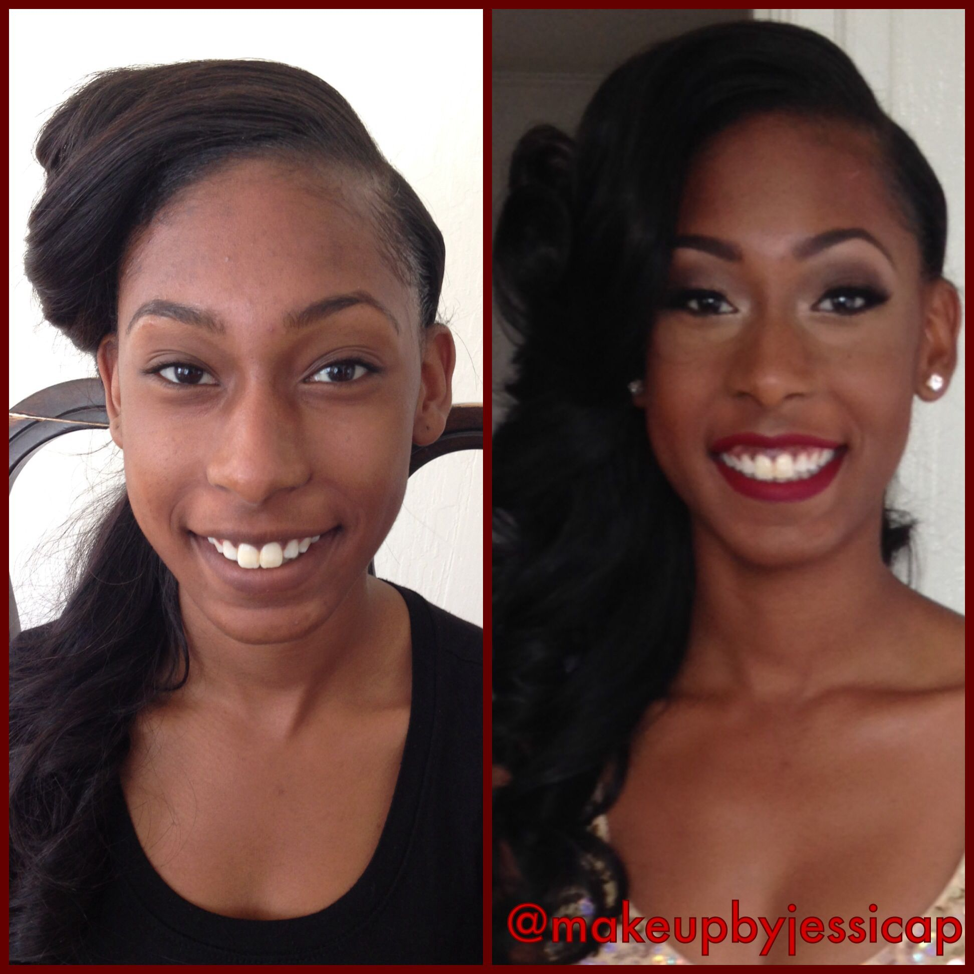 Natural beauty to glamorous !! Prom makeup for this beautiful young lady!