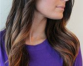 """20"""" Custom Made OMBRE Clip-In Hair Extensions. $200.00, via Etsy."""