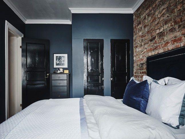 Dark grey walls brick i 39 m not sure how i 39 m going to - Dark gray bedroom walls ...