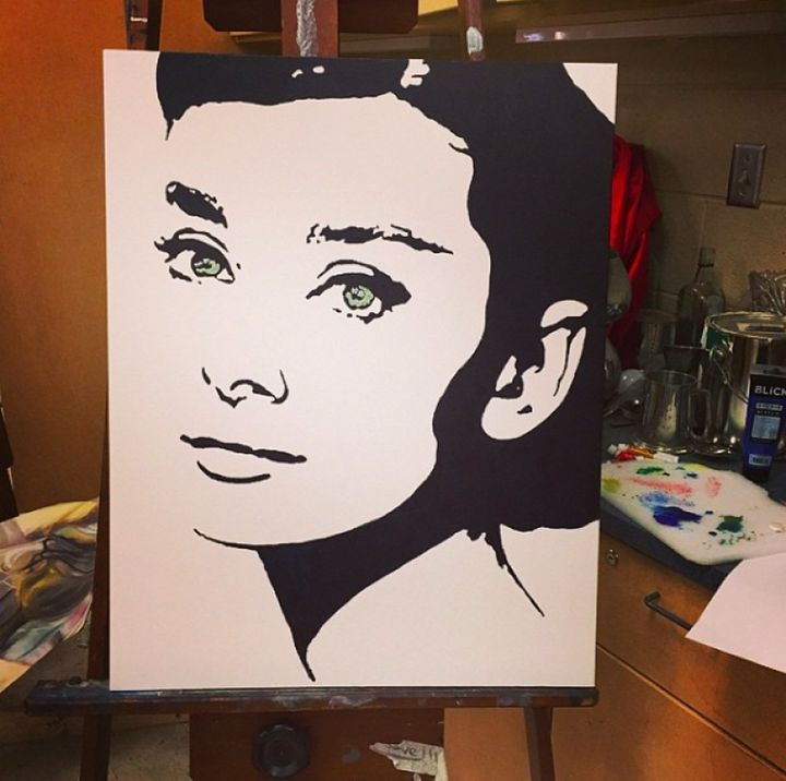 Haley Page Paintings Prints Line Art Drawings Black And White Art Drawing Audrey Hepburn Wall Art
