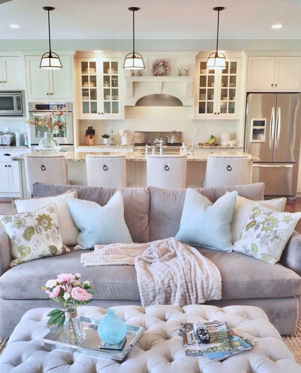 Southern Style Home Open Living Room