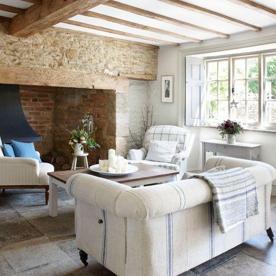 Wohnzimmer-weiß blau-shabby chic | Home - Einrichtungsideen ...
