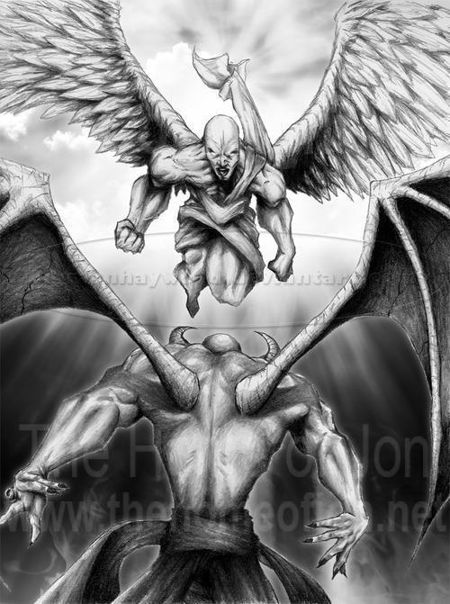 Good Versus Evil Demon Tattoo Evil Tattoos Angel Demon Tattoo