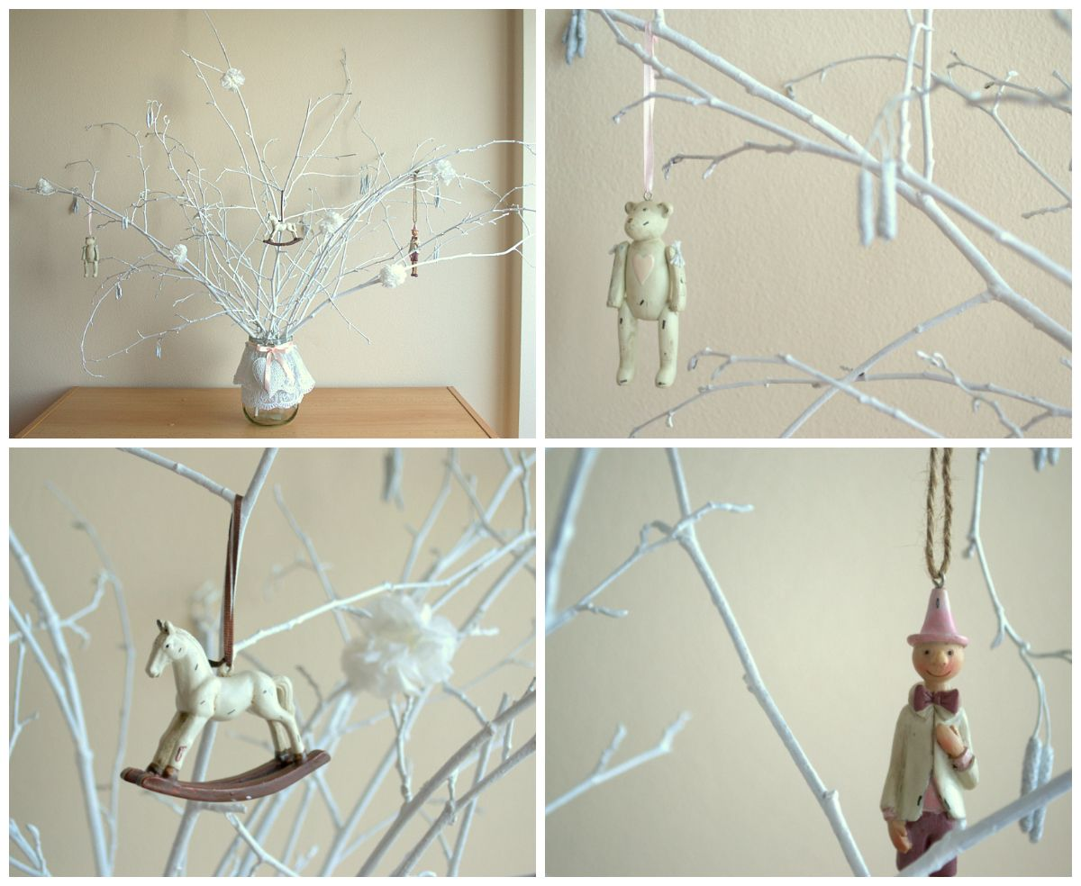 Vintage strom do dětského pokoje./Vintage tree, vintage toys, kids room.
