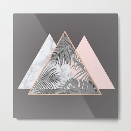 Our Metal Prints Are Thin Lightweight And Durable 1 16 Aluminum Sheet Canvas The High Gloss Finish Enh Copper And Marble Blush Grey Copper Patterned Bedding