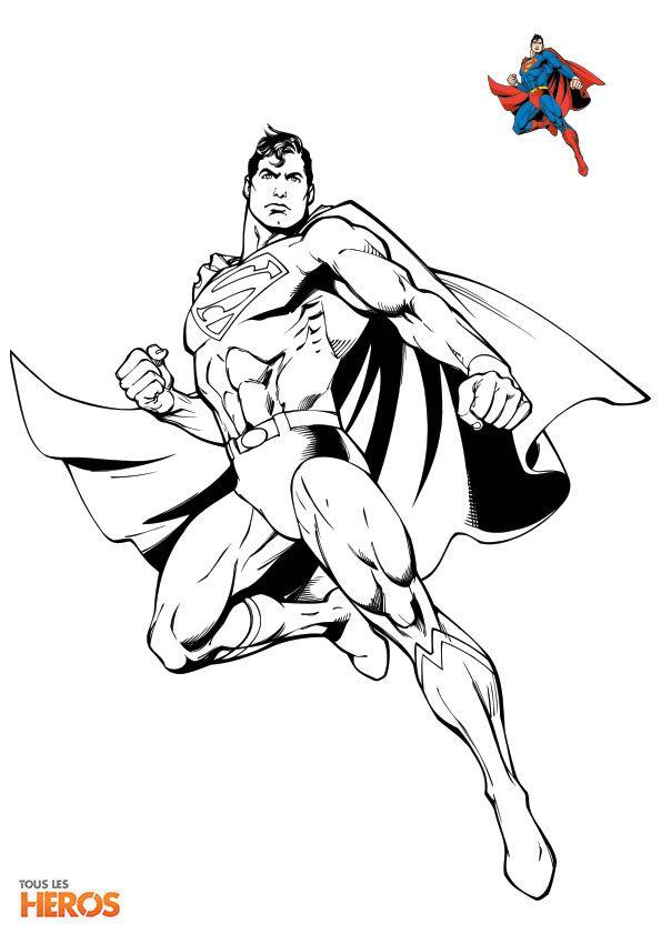 Coloriez superman le superheros coloriage heros sur - Dessin de superman ...