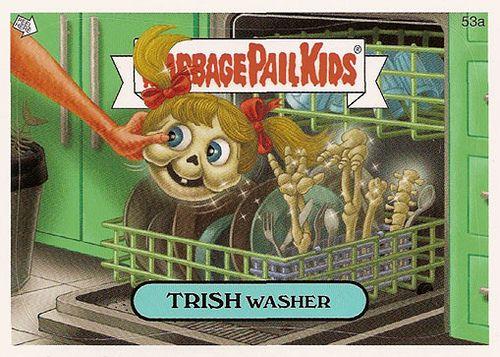 Dishwasher Trish Garbage Pail Kids Garbage Pail Kids Cards Pail