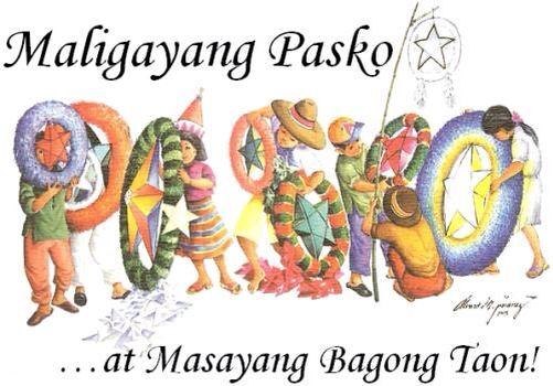 Merry Christmas In Filipino.Parol Philippine Christmas Lanterns And Maligayang Pasko
