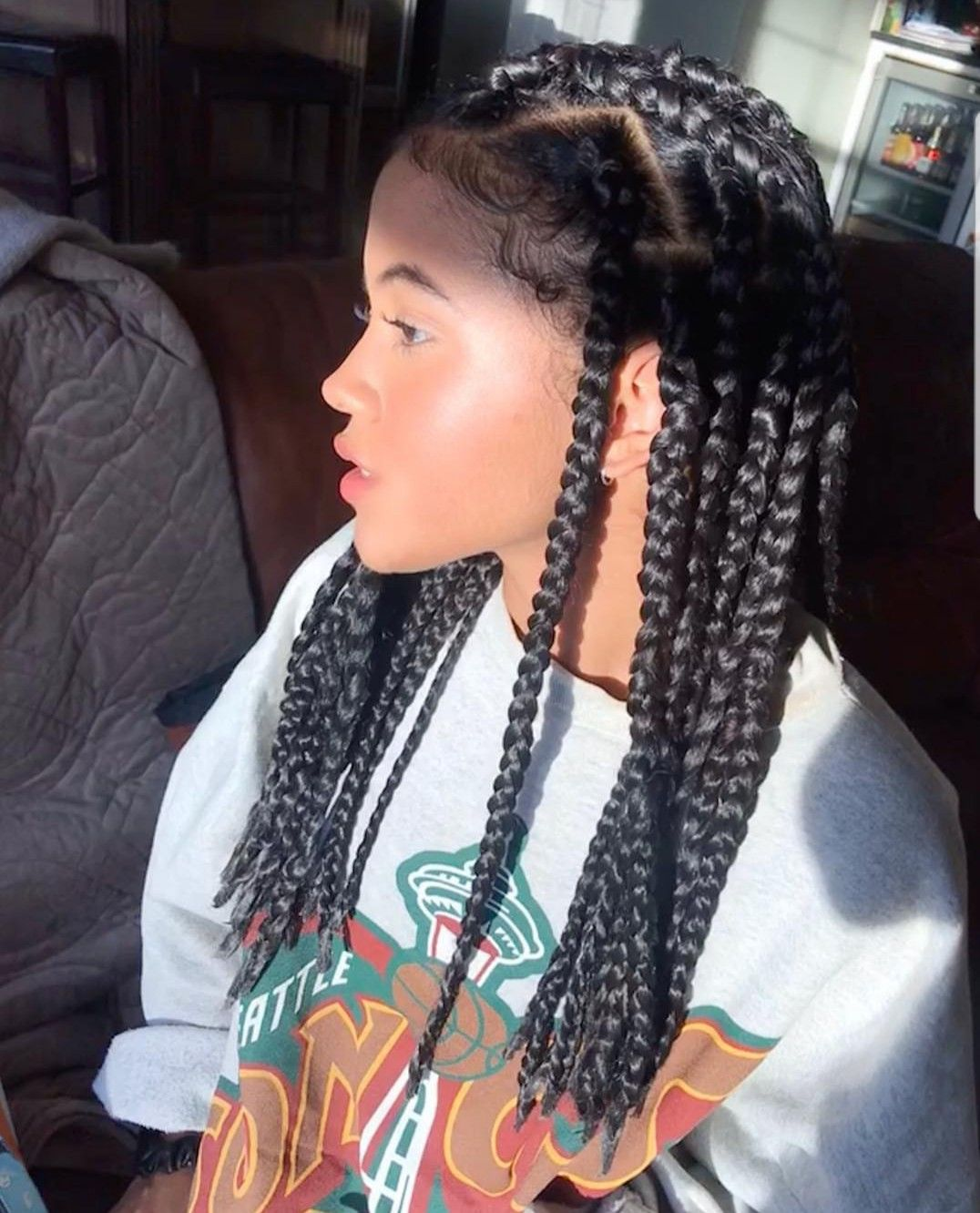 Pin By Amina Brooks On Pretty Such In 2020 Natural Hair Styles Short Box Braids Braids For Black Hair