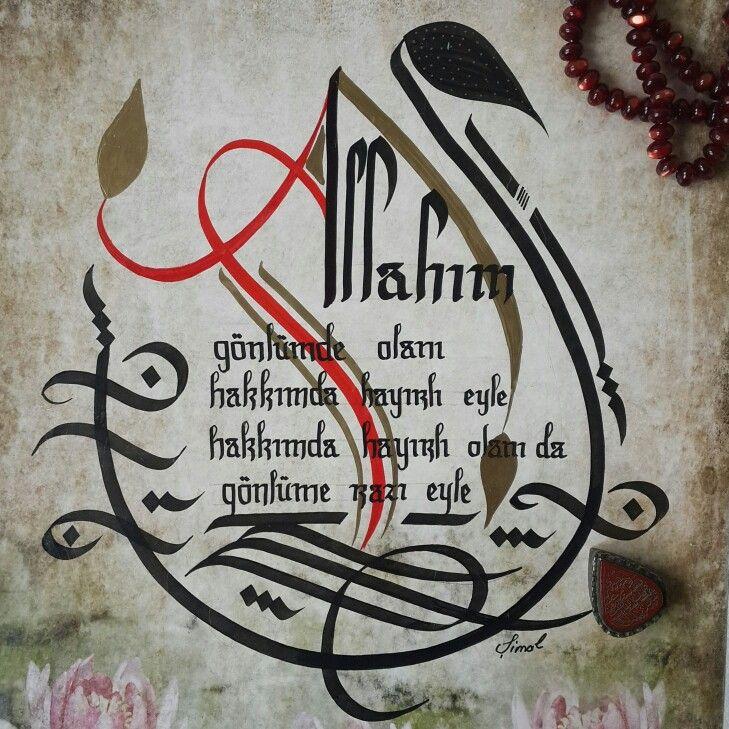 Pin oleh Şimal Kaya di ürettiklerim Seni kaligrafi dan Seni