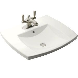Kohler K2381-1-0 Kelston Self Rimming Bathroom Sink - White Also available  in