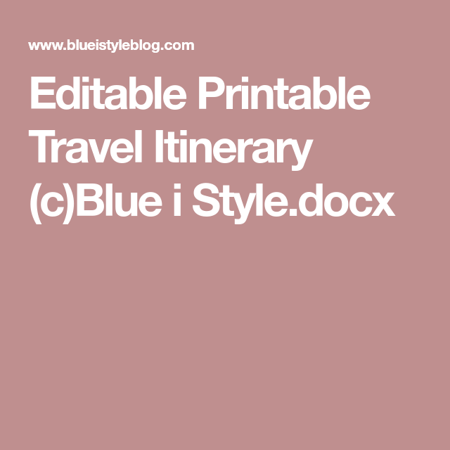 Create An Organized Travel Binder  Free Printable Planning Pages