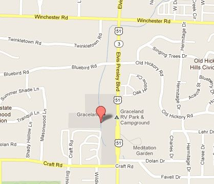 map of graceland memphis tn Map Of Memphis Graceland Streets Graceland Map Graceland Map map of graceland memphis tn