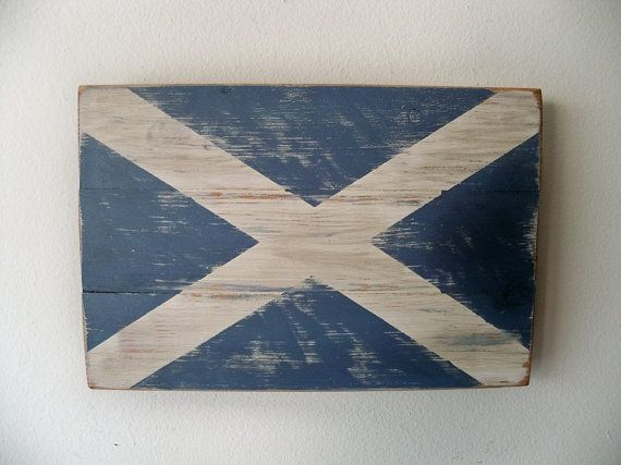 Distressed Scottish Flag Wood Wall Hanging By Thula On Etsy 30 00 Wood Wall Hanging Wall Hanging Wood Wall