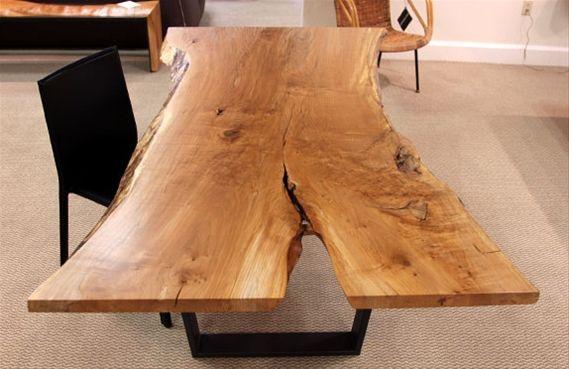 urban hardwoods furniture seattle maple slab dining table rh pinterest com