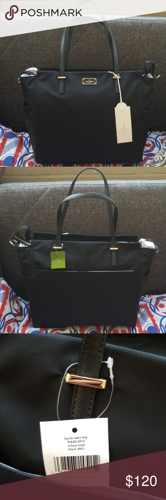 8c080c571769 Kate Spade Kaylie Baby Bag Brand New, Unused Kate Spade Diaper bag with changing  pad, stroller hooks and adjustable strap kate spade Bags Baby Bags