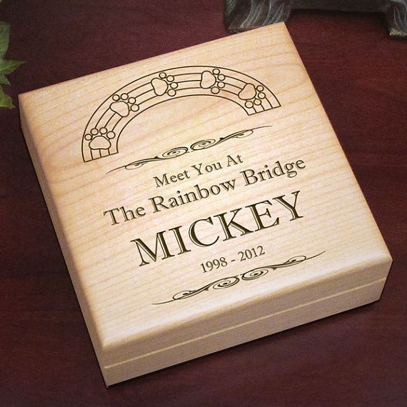 Personalized Dog Memorial Keepsake Box | Custom Rainbow Bridge Dog Lover Gifts | Unique Dog Memorial Gift Ideas | EtchedInMyHeart.com & Personalized Dog Memorial Keepsake Box | Custom Rainbow Bridge Dog ...