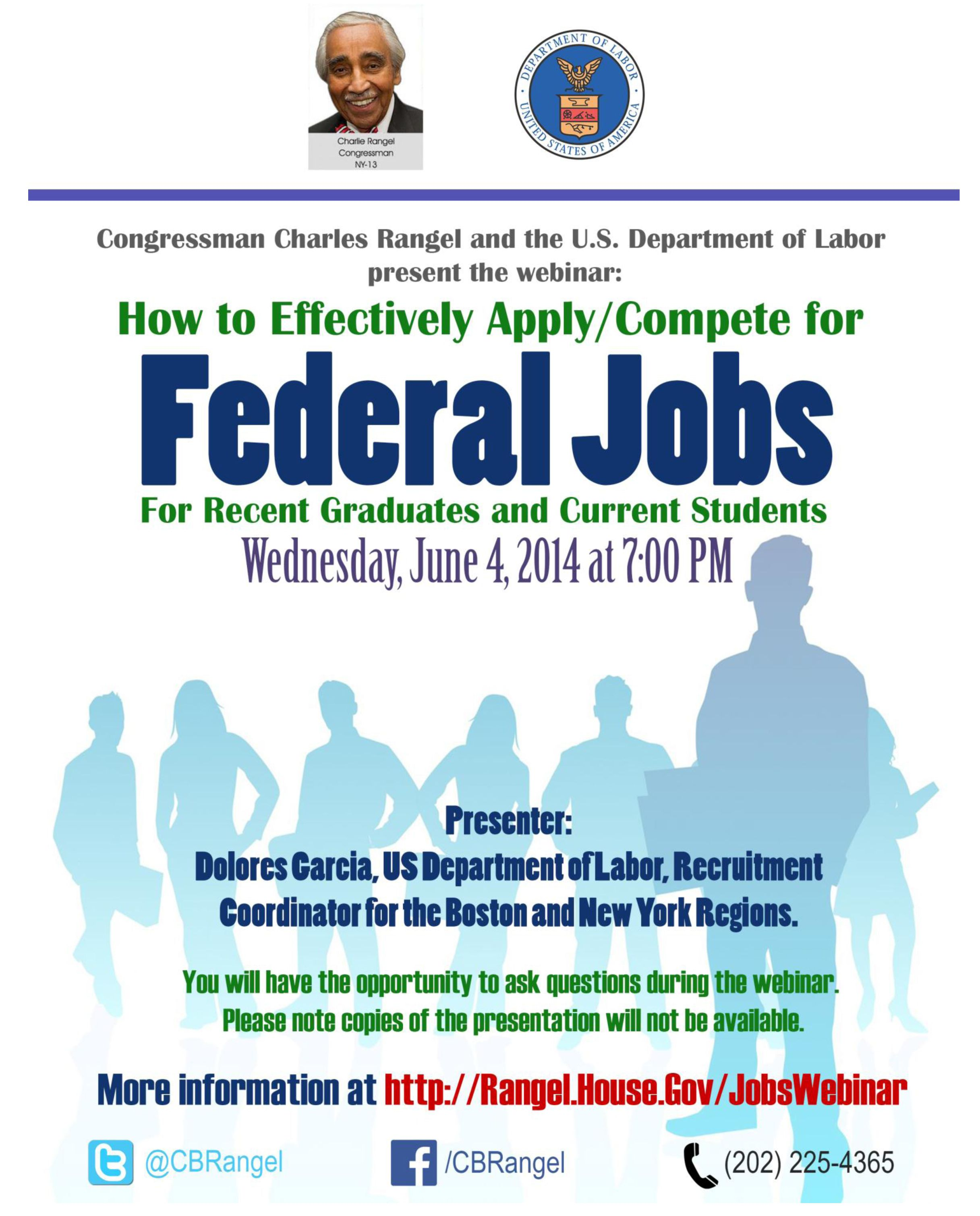 Webinar- How to apply/compete for federal jobs.