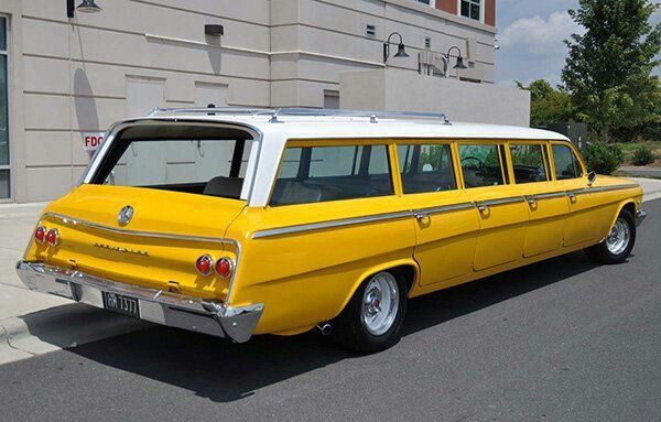 62 Chevy 8 door airport limo