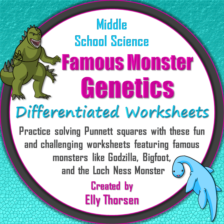 differentiated genetics worksheets with famous monsters famous monsters genetics and worksheets. Black Bedroom Furniture Sets. Home Design Ideas