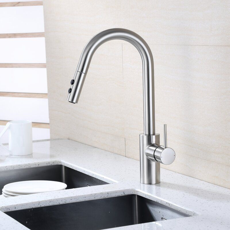 Find The Perfect Brushed Nickel Kitchen Faucets Wayfair Single Handle Kitchen Faucet Kitchen Faucet Brushed Nickel Kitchen Faucet