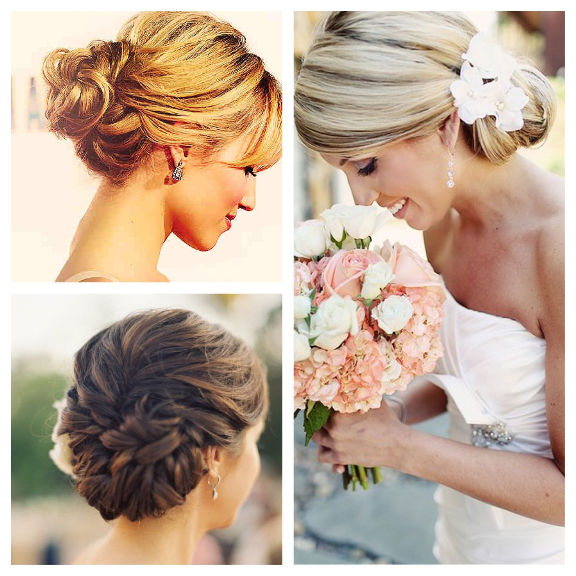 Bridesmaids And Matron Of Honor Hairstyles Flower Girl Hairstyles Bridesmaid Hair Brunette Bridesmaid Hair Side