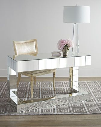 Regina Andrew Design Quinlan Mirrored Writing Desk Mirrored