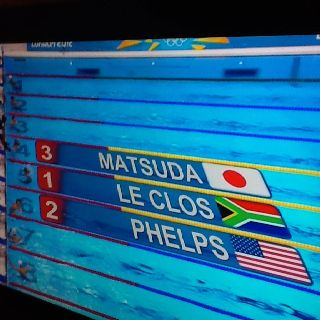 Gold for sa boy Chad!!! Olympics