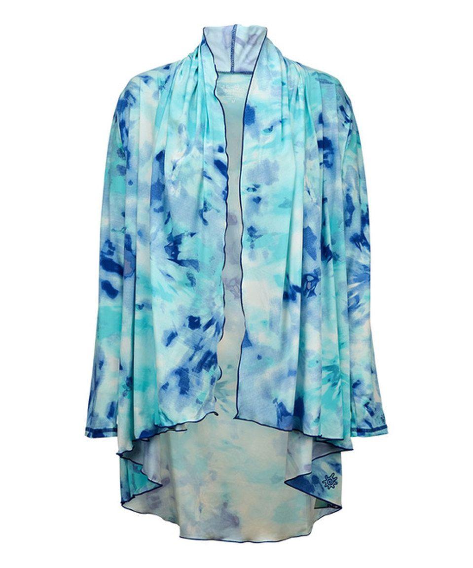 Look at this #zulilyfind! UV Skinz Navy Blue Fusion Hooded Resort Wrap - Plus Too by UV Skinz #zulilyfinds