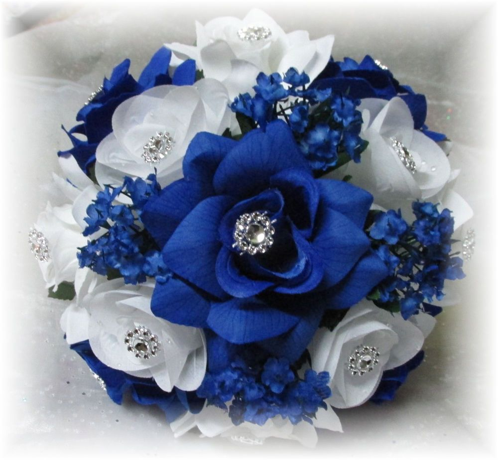royal blue wedding flowers bouquet 2 details about 2 pc bouquets bridesmaid of honor toss 7164