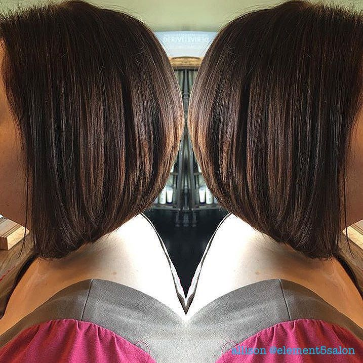 deep chocolate brunette stacked bob