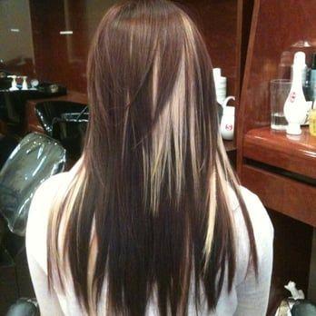 Like Gemma Teller Hair Dark Brown With Blonde Peekaboos Hair Long Hair Styles Brown Blonde Hair