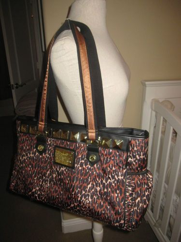 Betsey Johnson Betseyville Leopard Diaper Bag Didnt Even Know She Made Bags