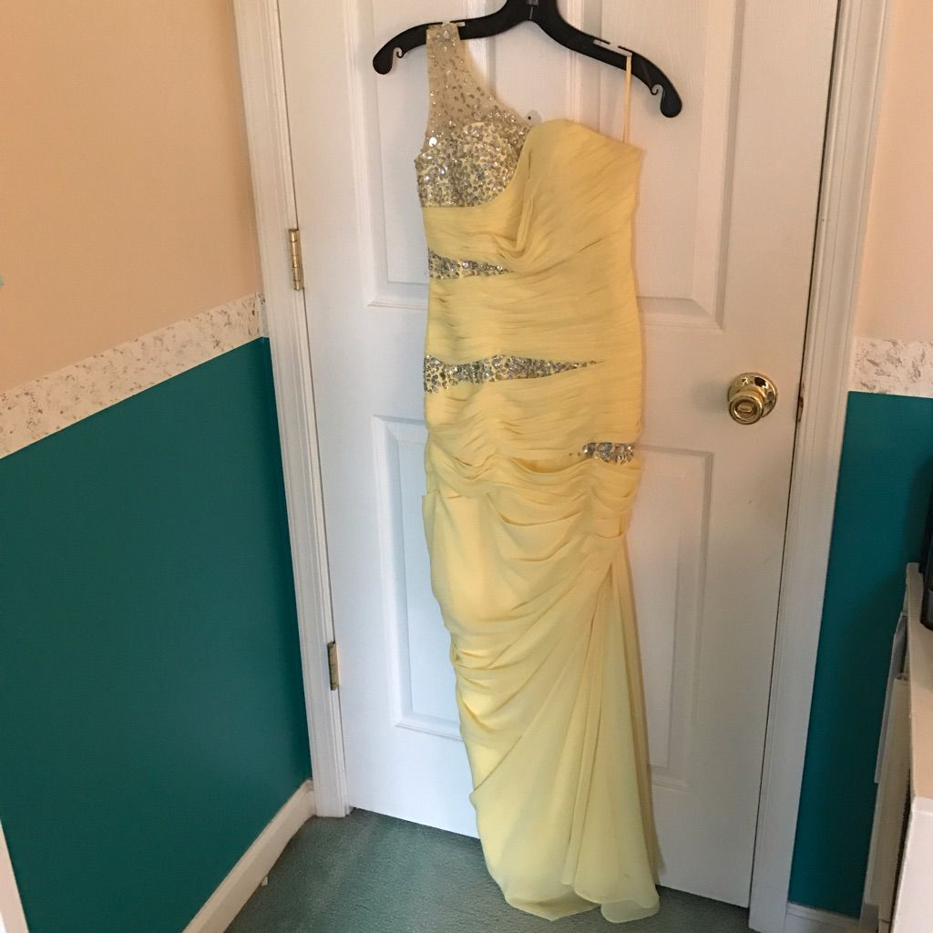 Oneshoulder yellow promformal dress products