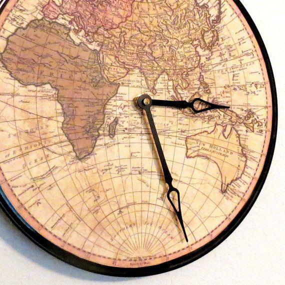 Globe Wall Clock Home And Living