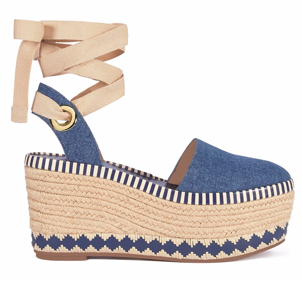 4a95b0bff1b3b0 Tory Burch Dandy Denim Espadrille Wedge