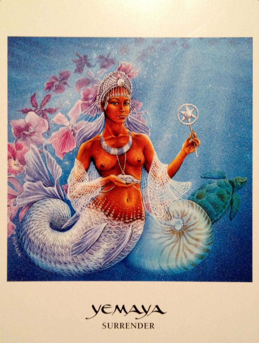 Surrender, From The Goddess Oracle Card Deck, By