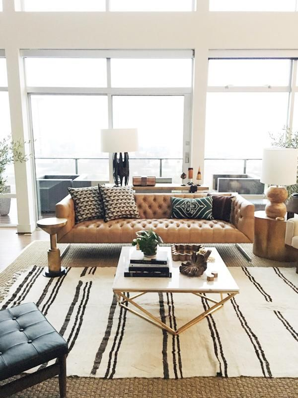tufted brown leather sofa rustic reclining goods interior design inspiration pinterest