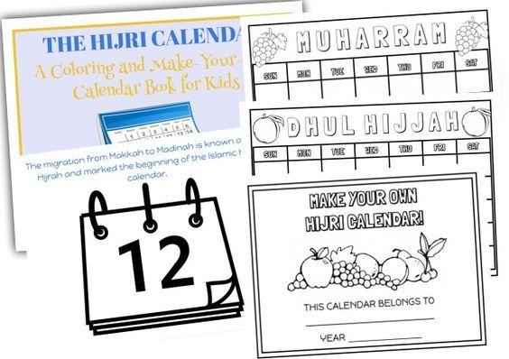 Hijri Calendar Book For Kids Hijri Calendar Calendar Book