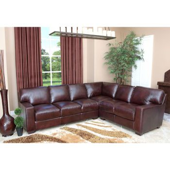 Costco Adler Leather Sectional Top Grain Leather Sectional Abbyson Living Leather Sectional