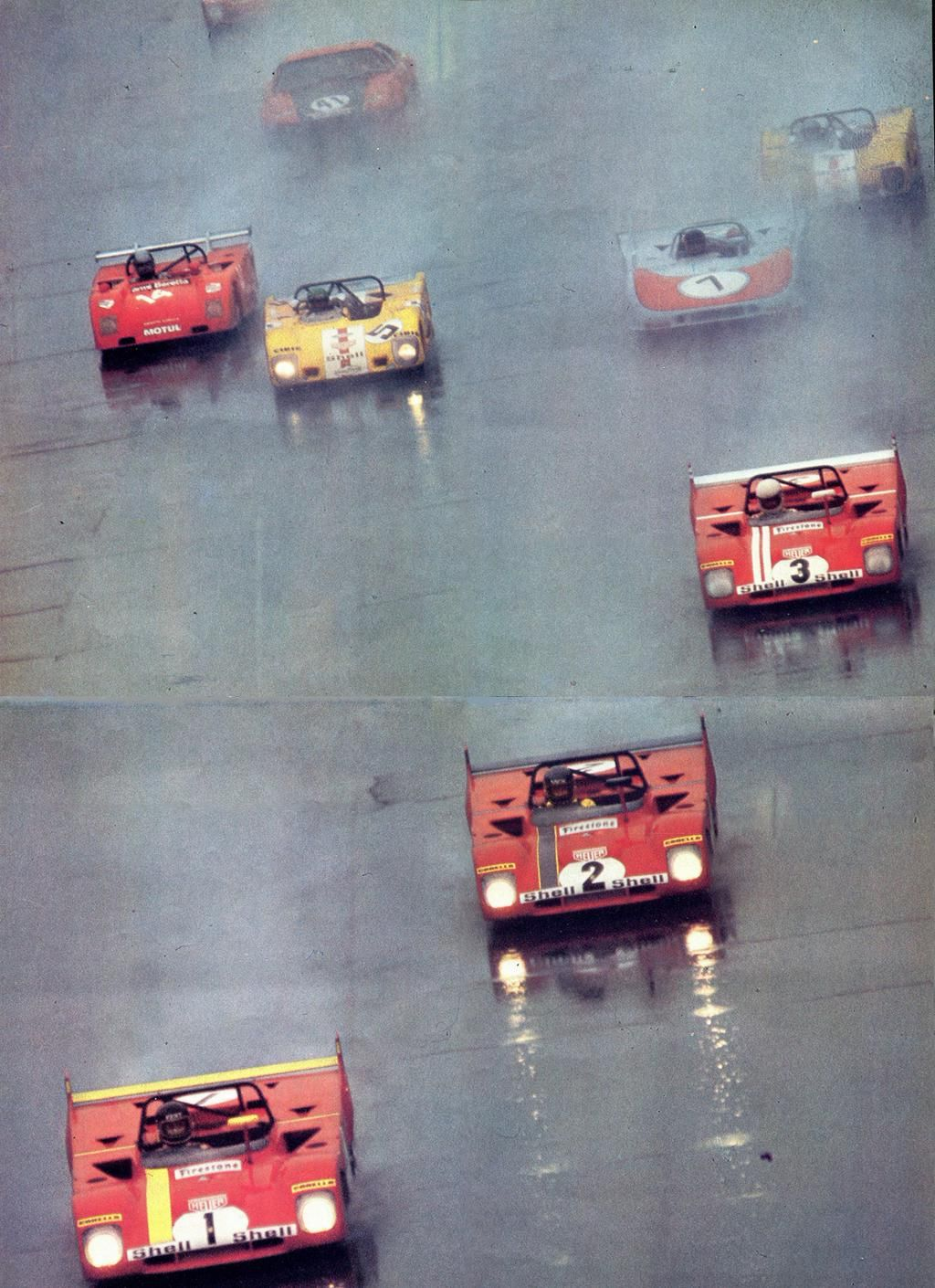 Numbers. 1,2,3 and 1,2,3 - 1000 km Monza. 1972