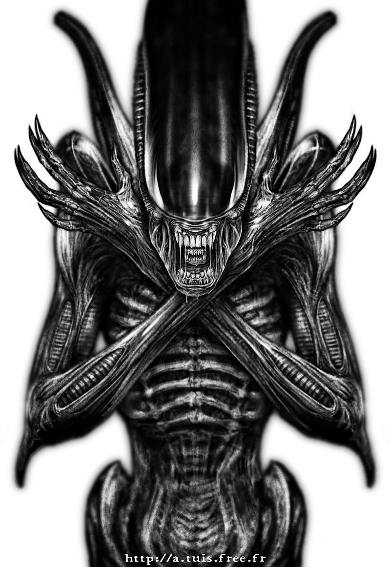 Hr giger tattoo designs - Find This Pin And More On Design Xenomorph