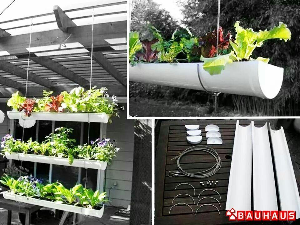 Planzgefass Aus Dachrinne Garten Ideen Blumentopf Garten