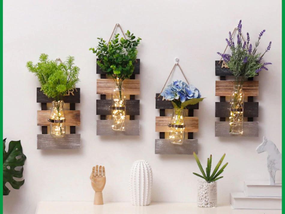 Wall Hanging Plant Pot Hydroponics Plant Glass Vase Indoor Garden