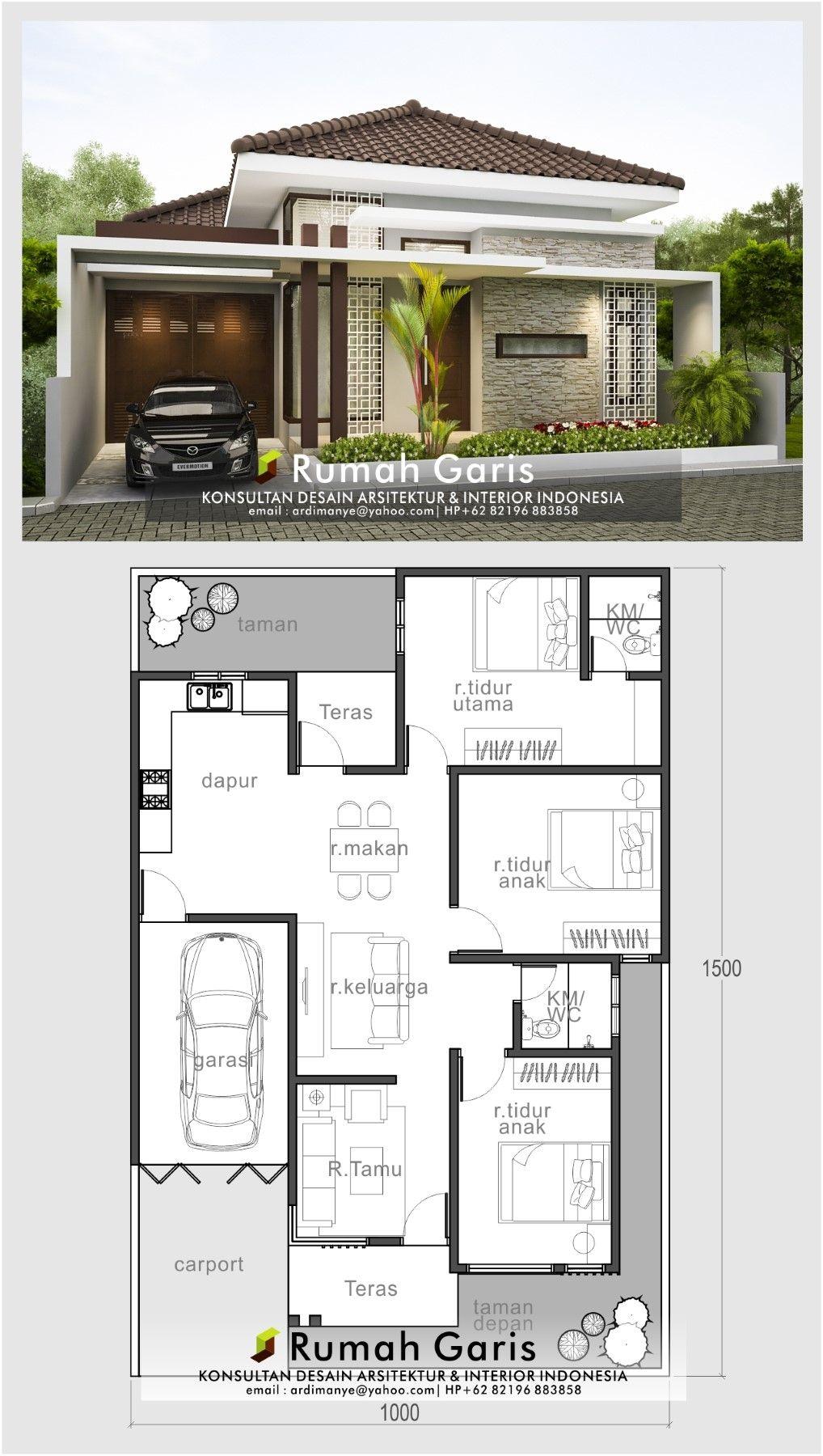 Desain Rumah 10x15 : desain, rumah, 10x15